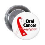 Oral Cancer Awareness Ribbon 2 Inch Round Button