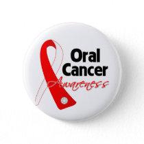 Oral Cancer Awareness Ribbon Pinback Button
