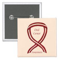 Oral Cancer Awareness Ribbon Stripes Custom Pins