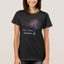Oral Cancer Awareness Tree T-Shirt