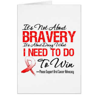 Oral Cancer Battle Greeting Card