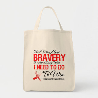 Oral Cancer Battle Grocery Tote Bag
