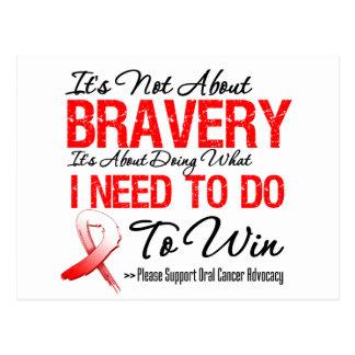 Oral Cancer Battle Postcard