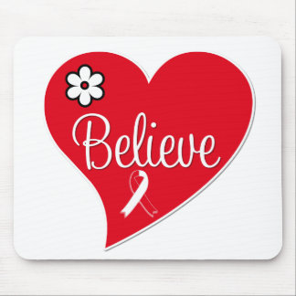 Oral Cancer Believe Heart Mouse Pads