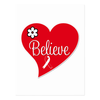 Oral Cancer Believe Heart Postcards