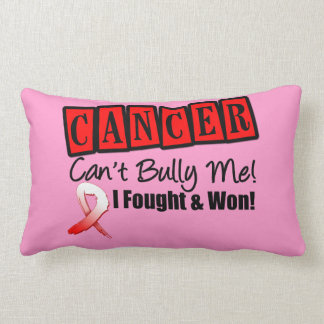 Oral Cancer Can't Bully Me...I Fought I Won Throw Pillow