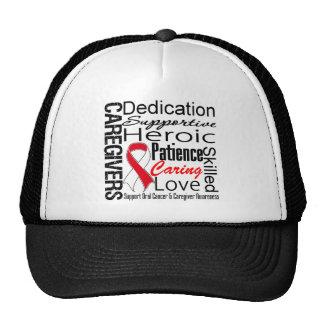 Oral Cancer Caregivers Collage Trucker Hat