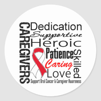 Oral Cancer Caregivers Collage Stickers