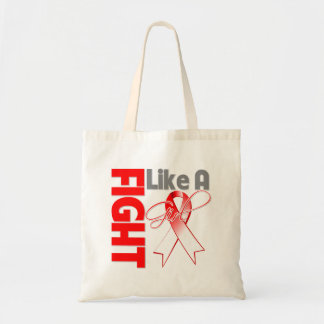Oral Cancer Chic Fight Like A Girl Ribbon Budget Tote Bag