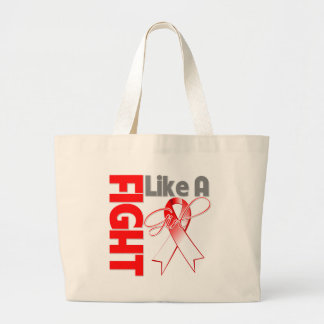 Oral Cancer Chic Fight Like A Girl Ribbon Jumbo Tote Bag