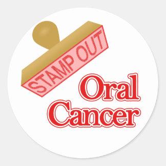 Oral Cancer Classic Round Sticker