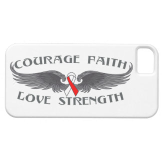 Oral Cancer Courage Faith Wings iPhone 5 Covers