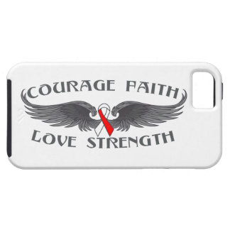 Oral Cancer Courage Faith Wings iPhone 5 Cover