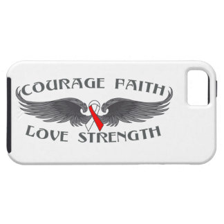 Oral Cancer Courage Faith Wings iPhone 5 Case
