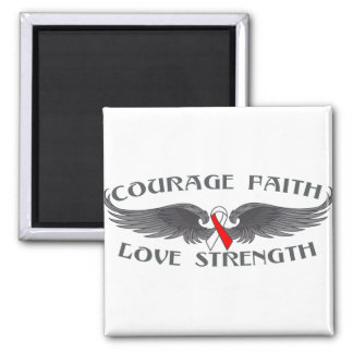 Oral Cancer Courage Faith Wings Refrigerator Magnets
