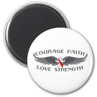 Oral Cancer Courage Faith Wings Refrigerator Magnet