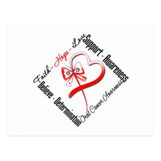 Oral Cancer Faith Hope Love Butterfly Postcard