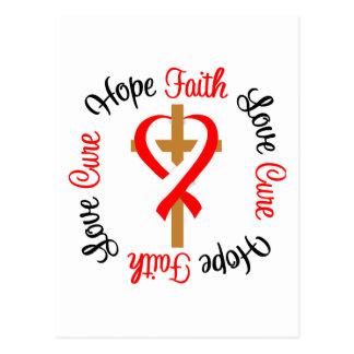 Oral Cancer Faith Hope Love Cross Postcard