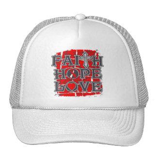 Oral Cancer Faith Hope Love Trucker Hat