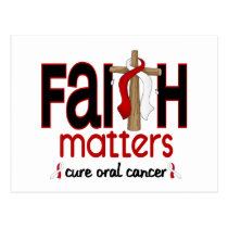 Oral Cancer Faith Matters Cross 1 Postcard