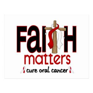 Oral Cancer Faith Matters Cross 1 Postcard