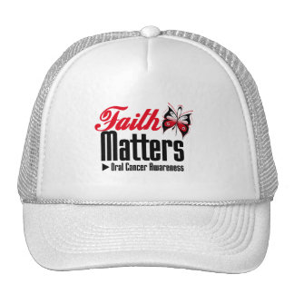 Oral Cancer FAITH MATTERS Trucker Hat