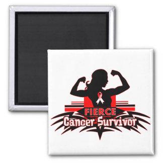 Oral Cancer Fierce Cancer Survivor Refrigerator Magnets