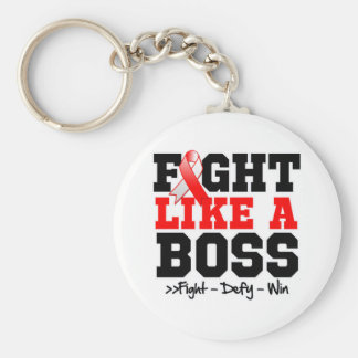 Oral Cancer Fight Like a Boss Keychains
