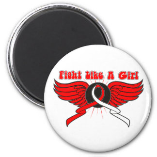 Oral Cancer Fight Like A Girl Wings Magnet