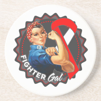 Oral Cancer Fighter Gal Sandstone Coaster