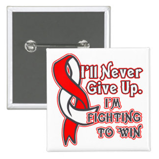 Oral Cancer Fighting To Win 2 Inch Square Button
