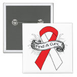 Oral Cancer Find A Cure Ribbon 2 Inch Square Button