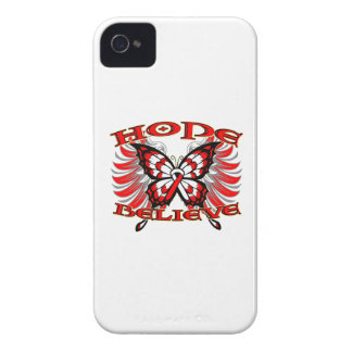 Oral Cancer Hope Believe Butterfly iPhone 4 Case