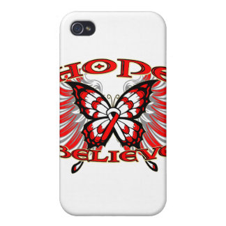 Oral Cancer Hope Believe Butterfly Cases For iPhone 4