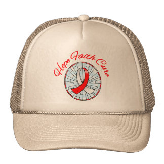 Oral Cancer Hope Faith Cure Trucker Hat