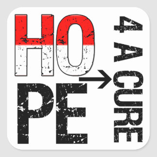 Oral Cancer Hope For a Cure Square Stickers