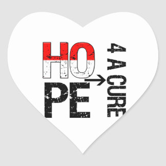 Oral Cancer Hope For a Cure Heart Sticker