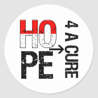 Oral Cancer Hope For a Cure Round Stickers