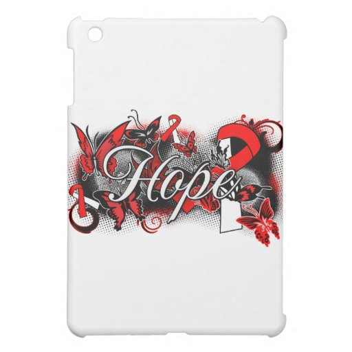 Oral Cancer Hope Garden Ribbon iPad Mini Cases