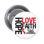 Oral Cancer Hope Love Faith 2 Inch Round Button