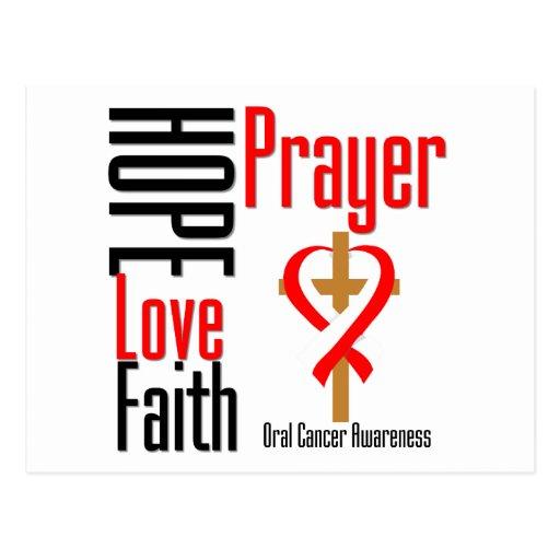 Oral Cancer Hope Love Faith Prayer Cross Postcards