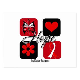 Oral Cancer Hope Love Inspire Awareness Postcard