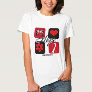 Oral Cancer Hope Love Inspire Awareness Shirt