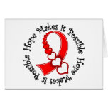 Oral Cancer -  Hope Makes It Possible Greeting Card