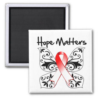 Oral Cancer Hope Matters 2 Inch Square Magnet