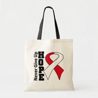 Oral Cancer Hope Never Give Up Budget Tote Bag