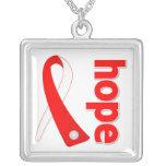 Oral Cancer Hope Ribbon Custom Necklace