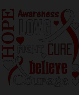 Oral Cancer Hope Words Collage T-Shirt