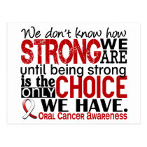 Oral Cancer How Strong We Are Postcard