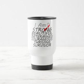 Oral Cancer I Am Strong Survivor 15 Oz Stainless Steel Travel Mug